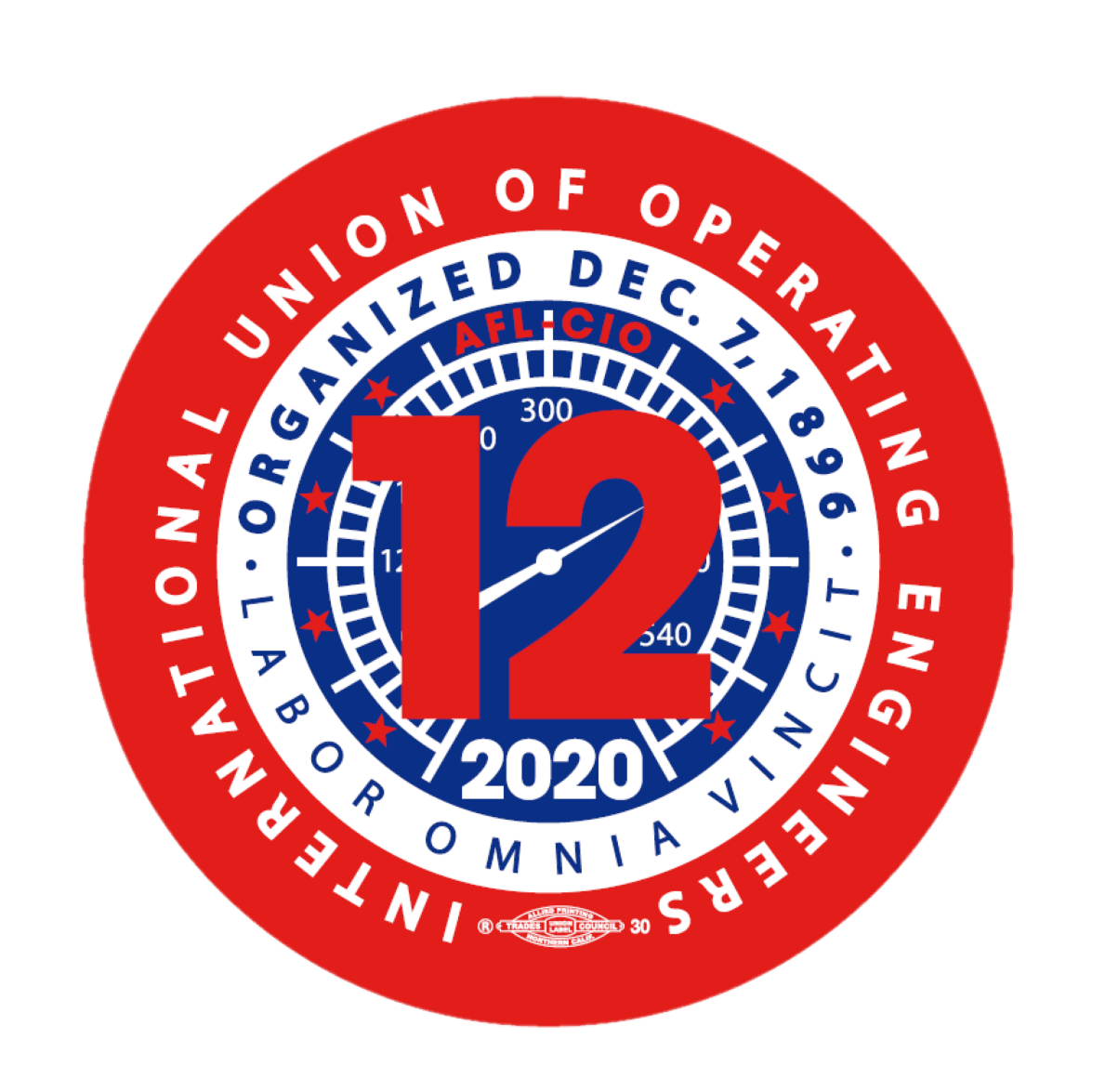 Local 12 logo, International Union of Operators and Engineers