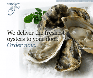 First Oysters to your Door website