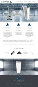 Etherium Lighting website example