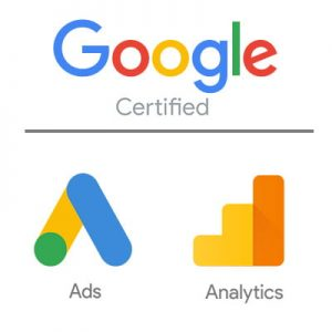 Google certified for Ads and Analytics