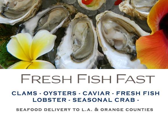 seafood delivery website ads on Google