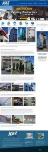 Kaz PAinting website design example