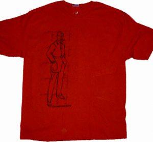 man schematic tshirt design