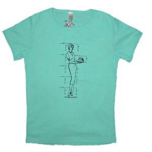 woman schematic tshirt design