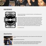 website design for hip hop emcee AMONE