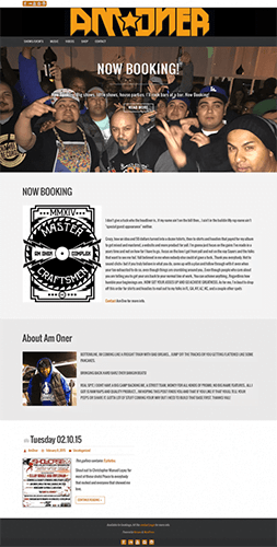 website design for hip hop emcee AMONE
