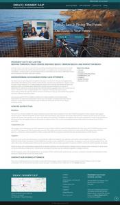 website design for Law Office of Dean Rosen LLP