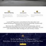 website design for Level Up Financial