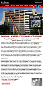 commercial painting website design and SEO services