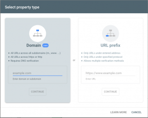 add your website to search console