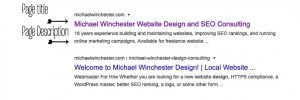 importance of page titling for serps