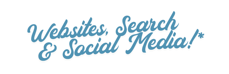 websites, serach and social media