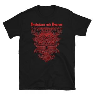 t-shirt design for Headstones and Hearses