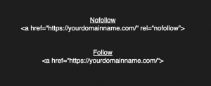 differences between follow and no follow link