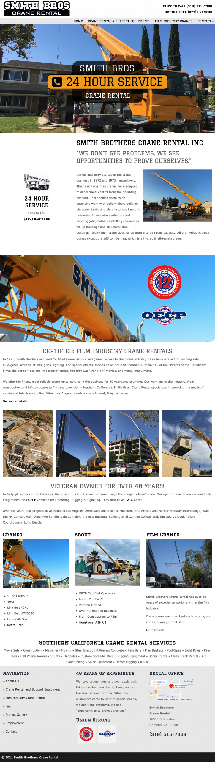 Smith Brothers Crane website